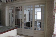 Белые французские двери раздвижные