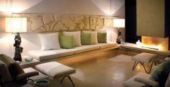 бежевая гостинная, диванная