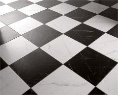 чёрно-белые полы в шахматку