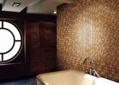мозаика бежевая в ванной
