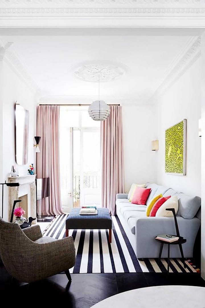 Pastel Pink Curtains Bright Minimal 15