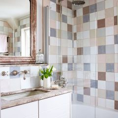 Pastel Tiled Bathroom Country Homes And Interiors Housetohome