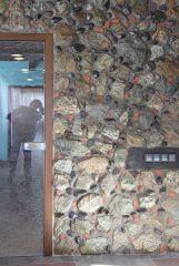 Фрагмент облицовки стены натуральным камнем