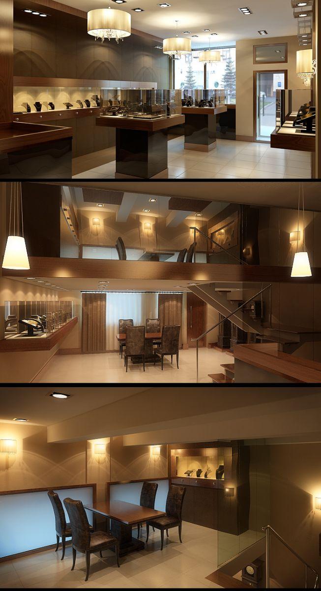 3D Визуализация интерьера магазина Eternel