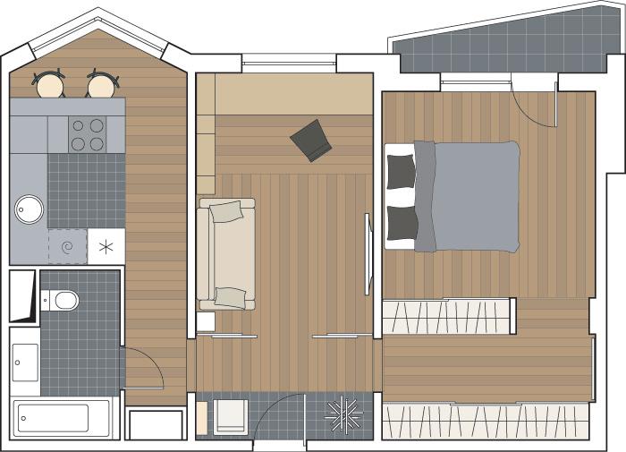 13 м.кухня с эркером в п44т - дизайн интерьера - форум о стр.