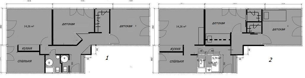 Дизайн трехкомнатной квартиры и 209а