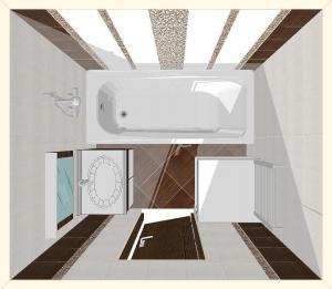 Маленькая ванная комната цвета венге