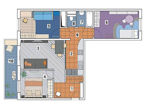 Как из двухкомнатной квартиры сделать четырехкомнатную