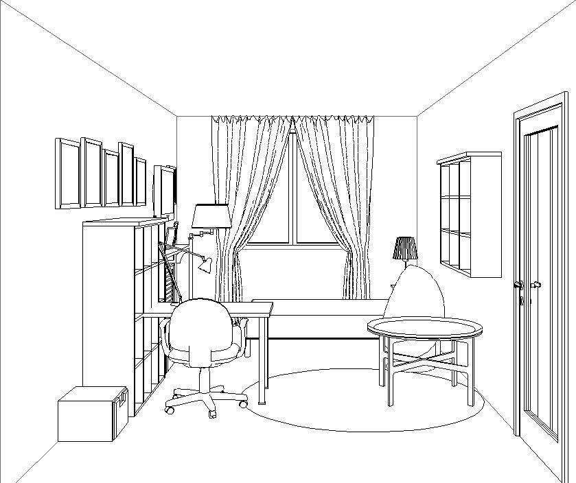 картинка чертеж комнаты что жизни