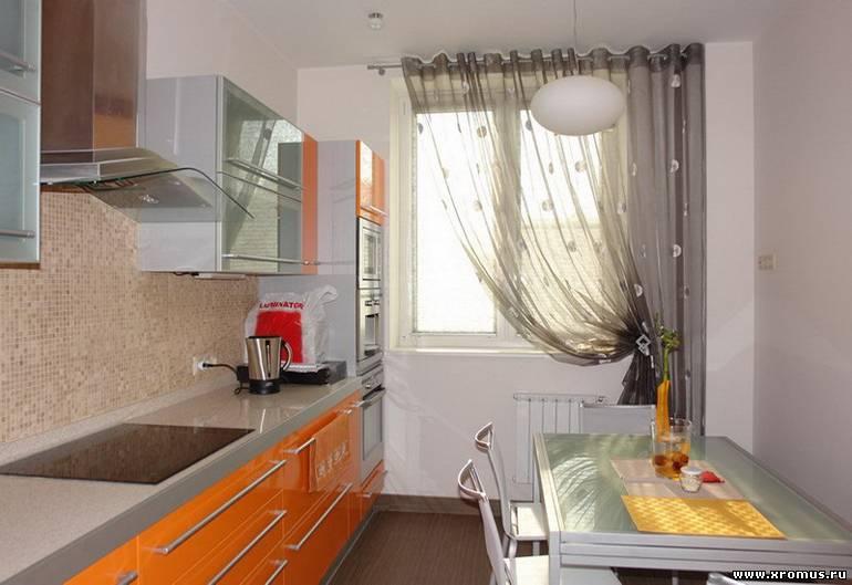 Дизайн интерьера шторы на кухне