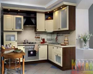 Дизайн кухни в 3 комнатной квартире 121