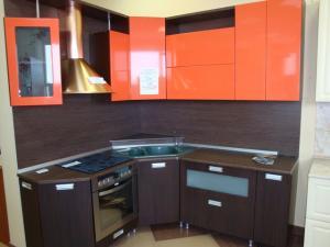 Кухня венге оранжевый глянец