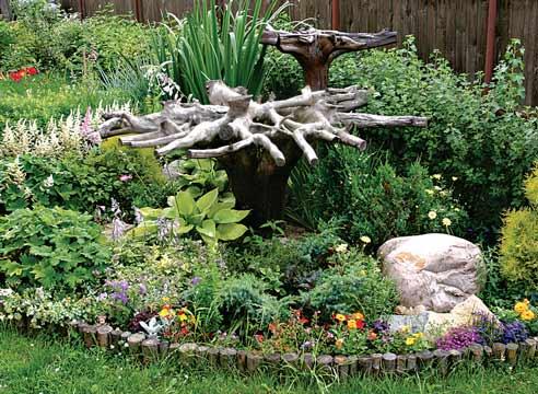 Поделки из коряги для сада