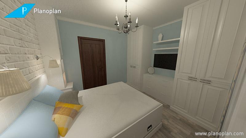 Дизайна спальни трехкомнатной квартиры п44т.