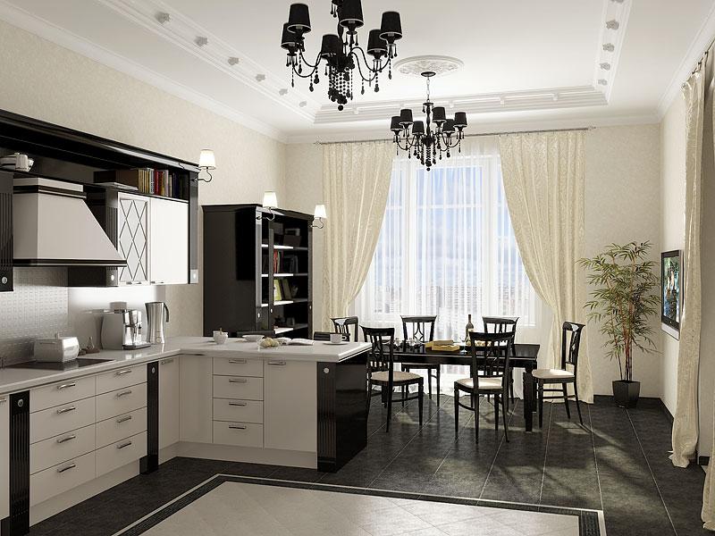 Дизайн кухни фото 20 кв м в частном доме