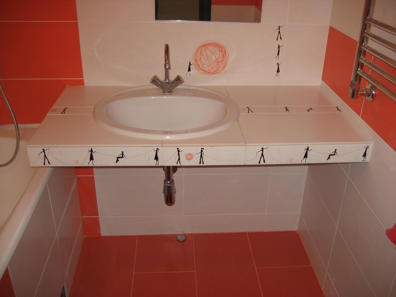 Столешница для ванной своими руками из гипсокартона фото