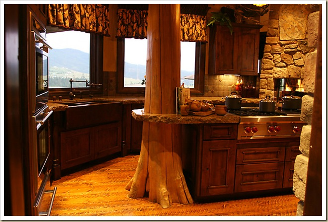Кухня дизайн интерьер из дерева