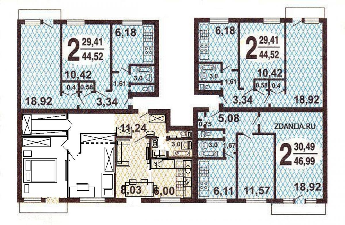 1-515/9m типовые планировки квартир в домах серии - серия 1-.
