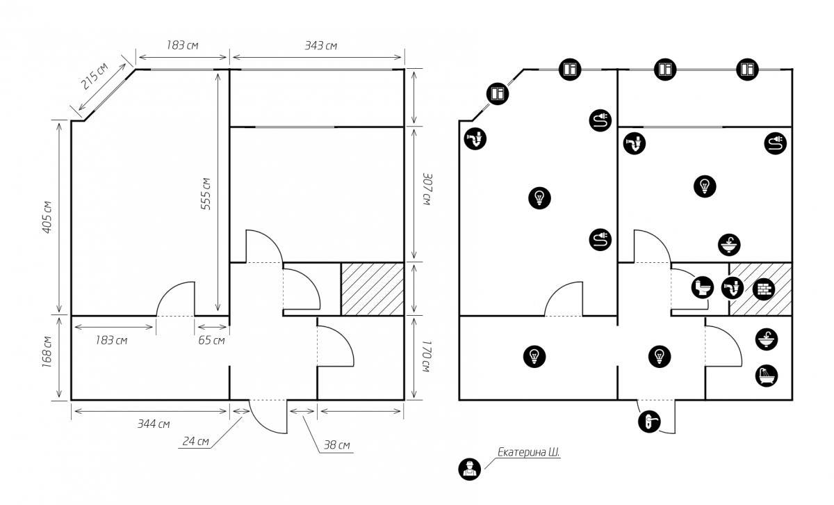 Перепланировка однушки дома серии копэ-м-парус в химках - пе.