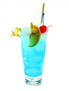 ...мл ликера голубого кюрасао; - 20 мл лимонного фреша; - 50 мл спрайта.