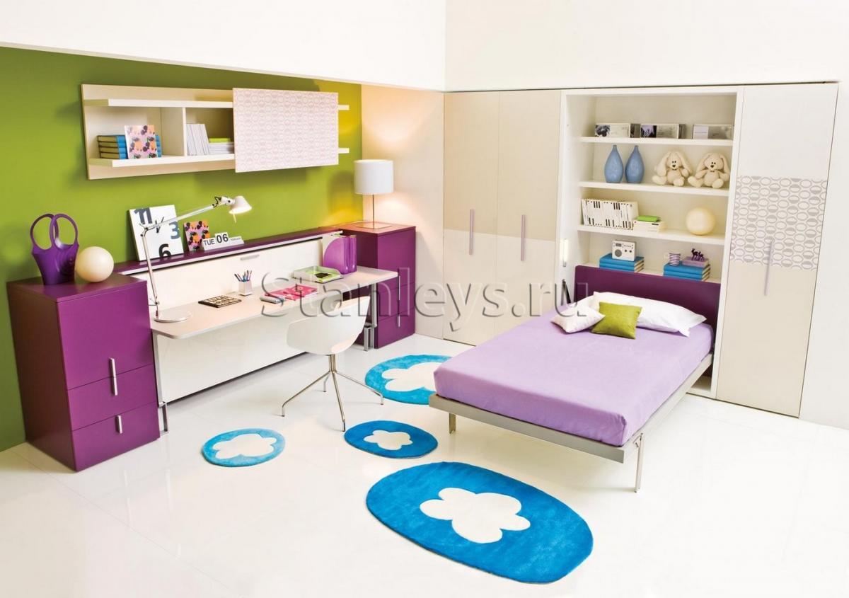 закаленное кровать трансформер для детской комнаты удобный