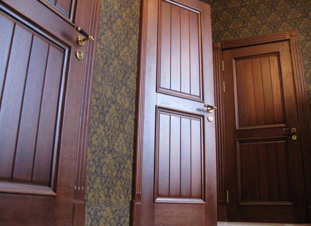 входнные двери изготовленные из натурального дуба