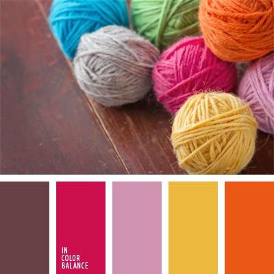Сочетания цветов ниток для вязания