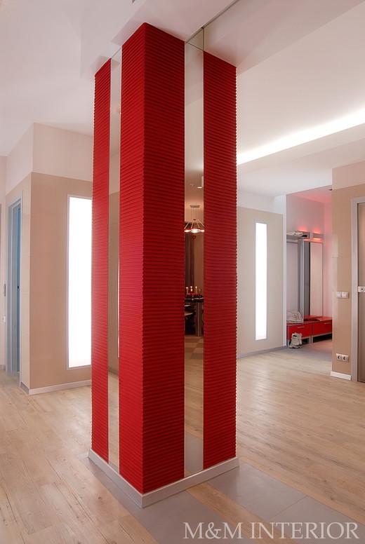 Декорирование колонны в интерьере фото