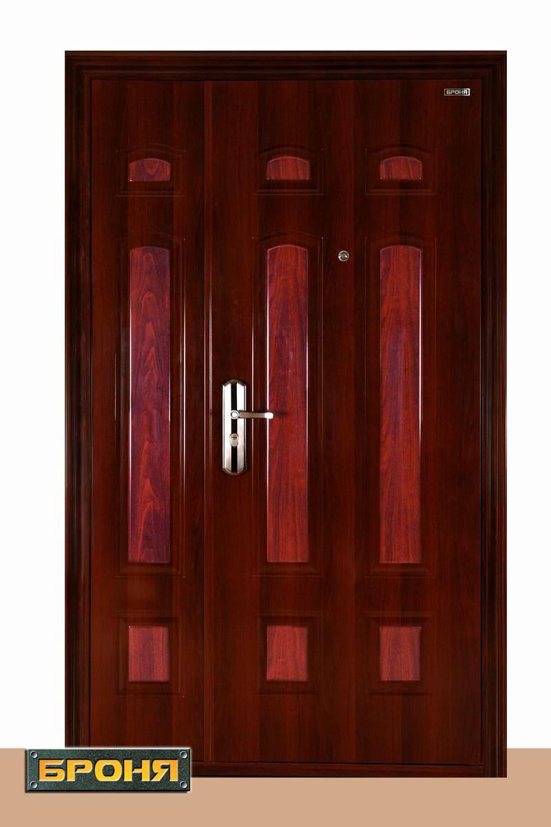 стальные двухстворчатые двери прайс