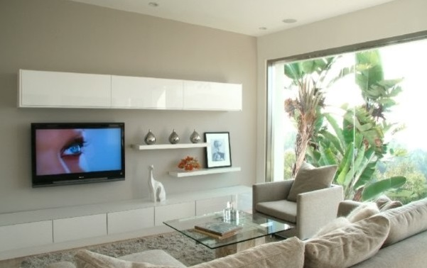 Фото дизайн телевизора на стене