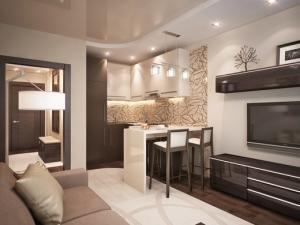 гостиная кухня 18 кв.м фото
