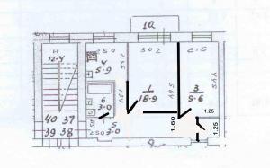 Проект 2 х комнатной хрущевки