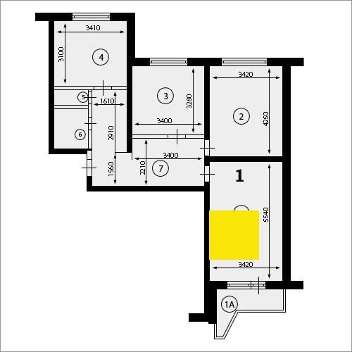 3-комн.кв. 75,3м2, м. митино , 3 мин.п., купить квартиру в м.