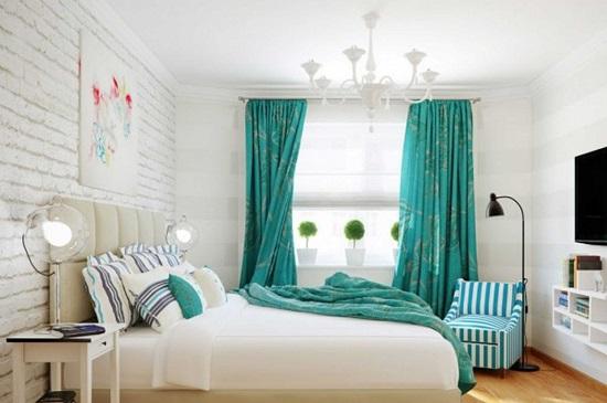 Спальня в мятном цвете фото