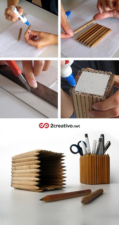 Как сделать пучки из карандашей
