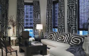 черно белый интерьер спальни - дизайн.