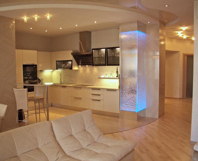 Дизайн интерьера современной кухни-гостиной