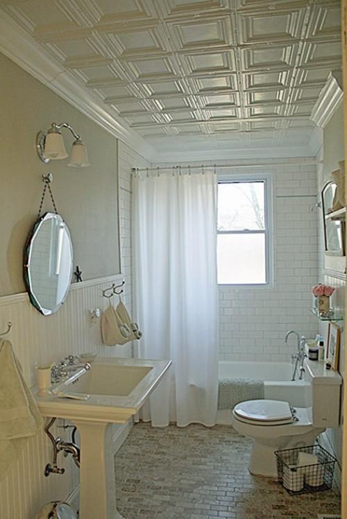 Crown moulding bathroom