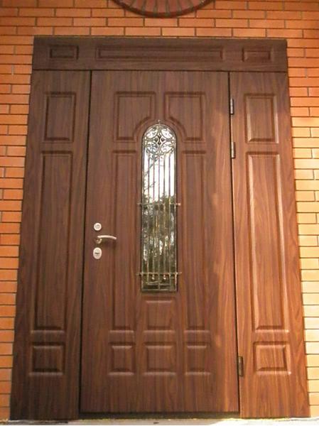 стальная дверь широкая