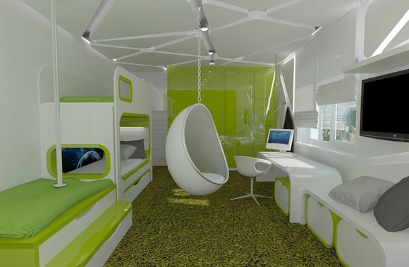 Дизайн молодежной комнаты 9 кв.м