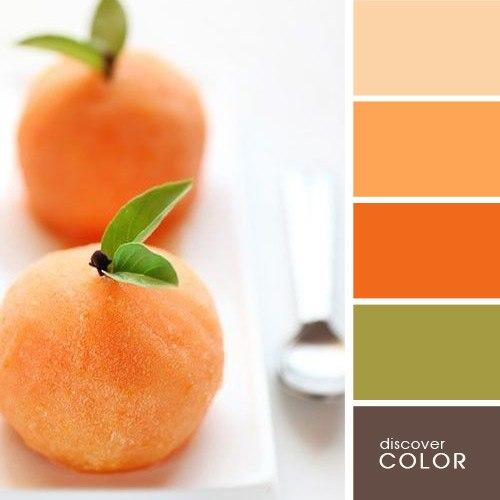 Персиковый цвет сочетание с другими цветами в интерьере фото
