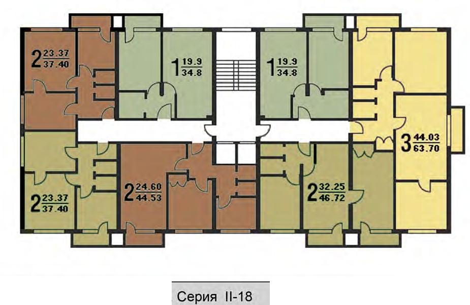 Типовая серия ii-18 - перепланировки - форум о строительстве.