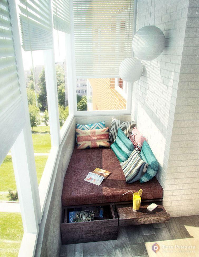 Идеи для дизайна балконов и лоджий.