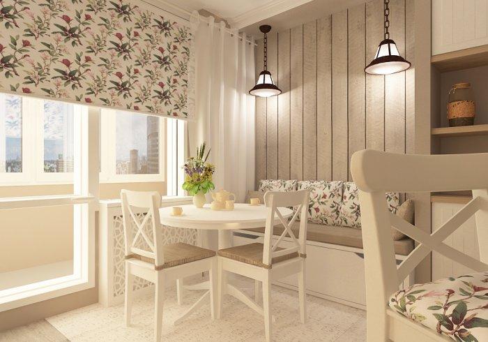 Дизайн кухни стол у стены