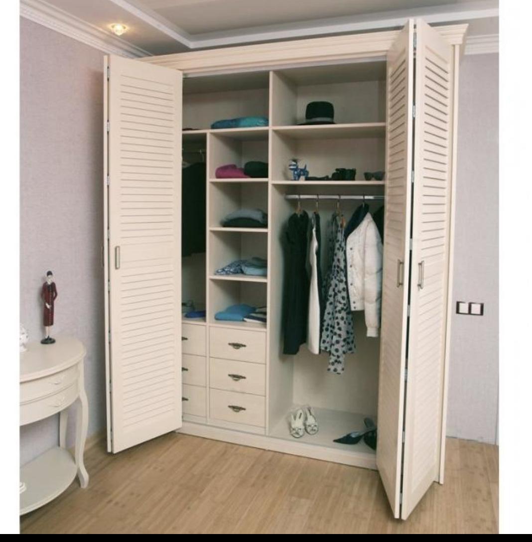 Шкафы с жалюзийными дверями