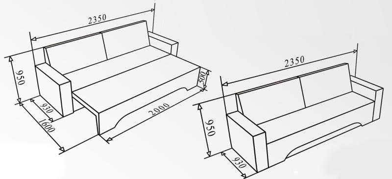 Чертежи и схемы дивана кровати своими руками