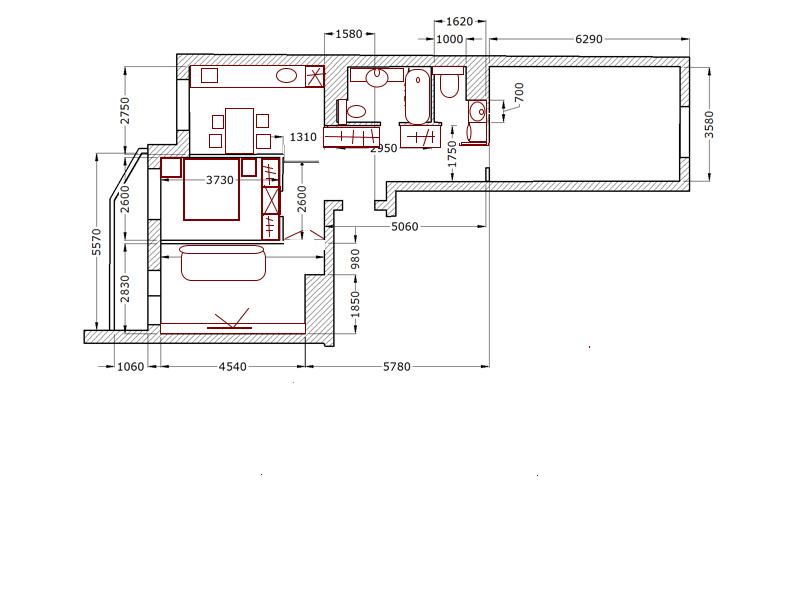 Трехкомнатная квартира для семьи из трех человек