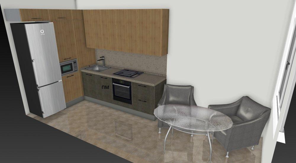 Узкая кухня с балконом, помогите пожалуйста с планировкой!-2