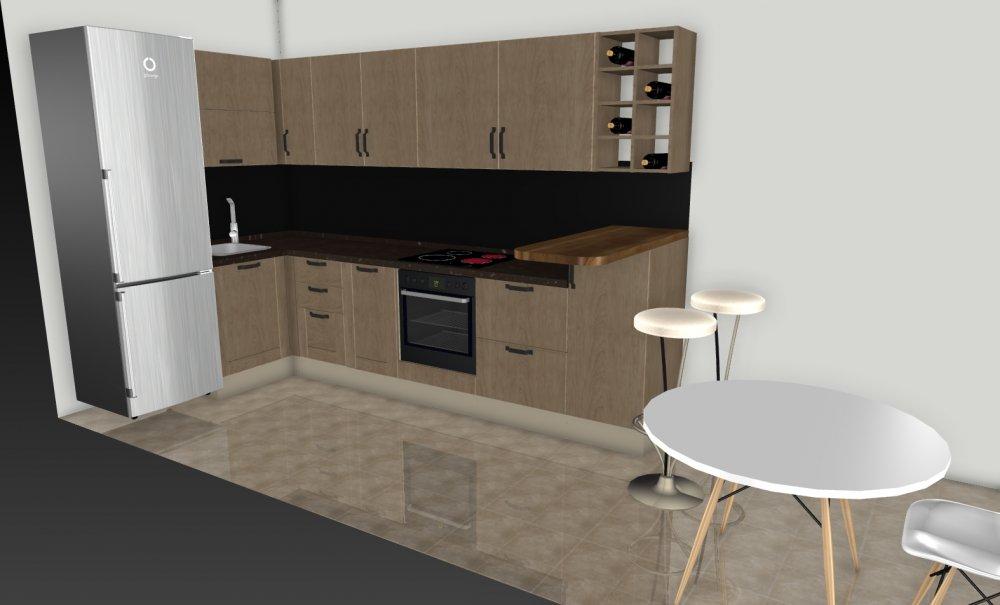 Узкая кухня с балконом, помогите пожалуйста с планировкой!-3