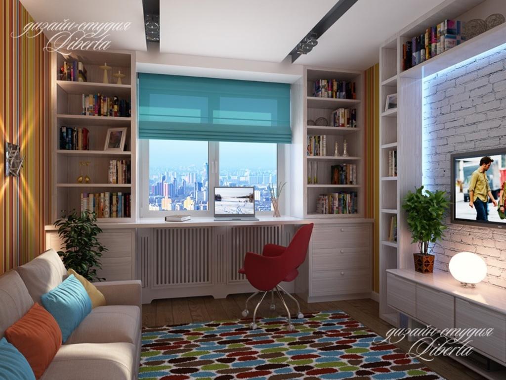 Дизайн окна в комнате
